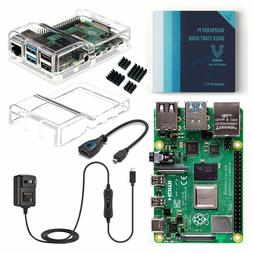 Vilros Raspberry Pi 4 Basic Kit with Dual Cover Clear Case