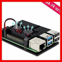Raspberry Pi 4 Case BLACK Aluminum FREE SHIPPING Computer Co