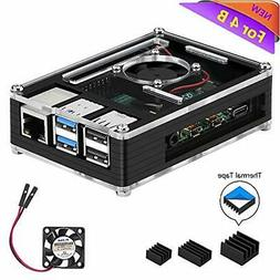 iUniker Raspberry Pi 4 Case, Raspberry Pi 4 Case with Fan Ra