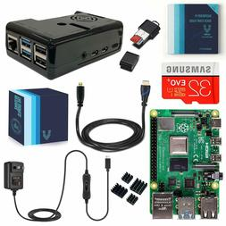 Vilros Raspberry Pi 4 Complete Kit with Black Fan Cooled Cas