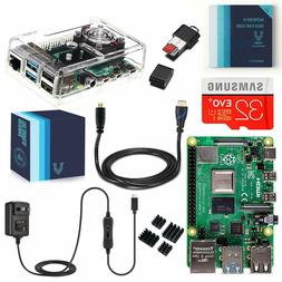 Vilros Raspberry Pi 4 Complete Kit with Clear Transparent Fa