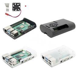 Raspberry Pi 4 Model B Black/Transparent ABS Case Enclosure