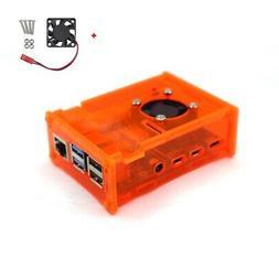 Raspberry Pi 4 Model B Orange Acrylic Case Enclosure Box /w