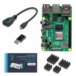 Vilros Raspberry Pi 4 with USB-C  Micro HDMI Adapters Quicks