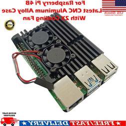 For Raspberry Pi 4B Latest CNC Aluminum Alloy Case Enclosure