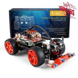 Sunfounder Raspberry Pi Car Diy Robot Kit For Kids And Adult