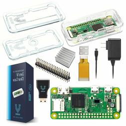 Raspberry Pi Zero W Basic Starter Kit-- Clear Case Edition--