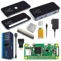 Vilros Raspberry Pi Zero W Basic Starter Kit- Black Case Edi