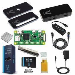 Vilros Raspberry Pi Zero W Complete Starter Kit-Premium Blac