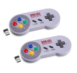 Vilros Retro Gaming Classic SNES Style Wireless USB Gamepads