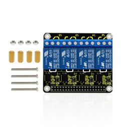 KEYESTUDIO 4 Channel Relay Shield Expansion Board HAT for Ra