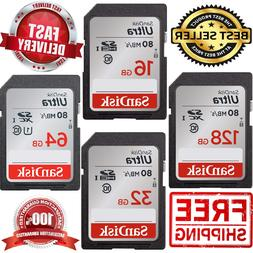 SanDisk SD Card Ultra Class 10 Memory Card Up To 80MB/s Came