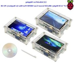 "US 3.5"" HDMI LCD Display 480x320 Screen+Case+HDMI+Pen+Disc f"
