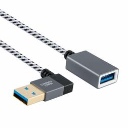 USB 3.0, CableCreation Right Angle USB 3.0 Male to Female Ex